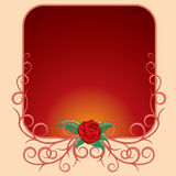 Frame with rose Stock Photos