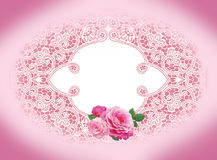 Frame rose Royalty Free Stock Photography
