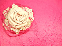 Frame Of Rose Fabric Handmade Decoration. Beautiful Frame Of Rose Fabric Handmade Decoration Royalty Free Stock Image