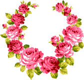 Frame of the rose. I drew a rose decoratively Stock Image