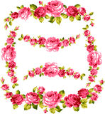 Frame of the rose. I drew a rose decoratively Stock Photos