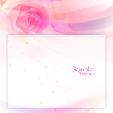 Frame with rose layout Royalty Free Stock Photos