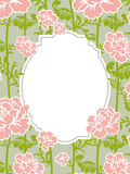 Frame rose Vintage background. Old flowers pattern Royalty Free Stock Photos