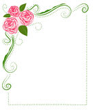 Frame of Roses. For say lovely words to friends, parents, husband, wife, boyfriend, girlfriend Royalty Free Stock Photos