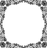 Frame roses. Silhouette decorative square frame roses Royalty Free Stock Photography