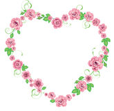 Frame with roses Royalty Free Stock Photography