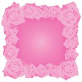 Frame with roses illustration. Royalty Free Stock Image