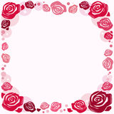 Frame with roses Stock Photo