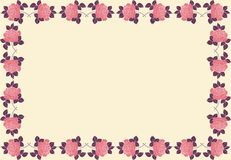 Frame of roses with space for text or photo. Vector illustration for graphic design, textile design or web design Royalty Free Stock Photos