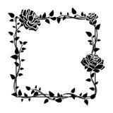 Frame of roses. Stylish ornamental border with roses. Floral design elements. Vector illustration Stock Image