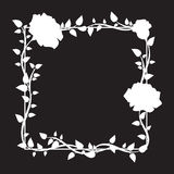 Frame of roses. Stylish ornamental border with roses. Floral design elements. Vector illustration Royalty Free Stock Images