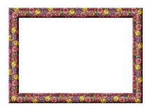 Frame with roses texture Royalty Free Stock Image