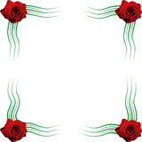 Frame roses (vector) Stock Image