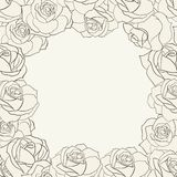 Frame with roses. Royalty Free Stock Images