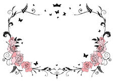 Frame with roses Royalty Free Stock Photo