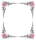 Frame, roses, vintage Royalty Free Stock Photos