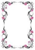 Frame, roses, vintage. Roses decoration, filigree leaves, frame Royalty Free Stock Image