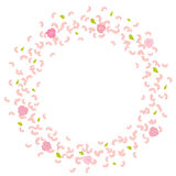 A frame of rotating, flying petals, roses and leaves. Whirlwind, wedding background. Love Stock Images