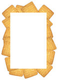 The frame of the round cookie on a white background Stock Images