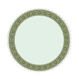 Frame round green. Illustration with green  floral decorative frame royalty free illustration