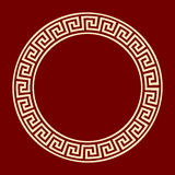 Frame round meander ancient pattern Royalty Free Stock Photo