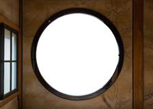 Frame of a Round Window Royalty Free Stock Images