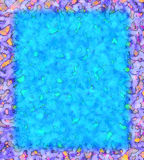 Frame roxo vívido Imagem de Stock