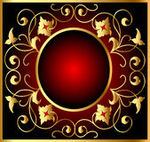 Frame and royal gold(en) pattern Royalty Free Stock Photography