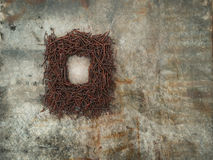 Frame of rusted nails Royalty Free Stock Images