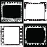 Frame samples. Vector set of grunge film frame samples Stock Photos
