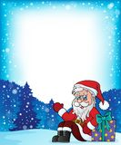 Frame with Santa Claus theme 6 Royalty Free Stock Photo