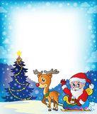 Frame with Santa Claus theme 7 Royalty Free Stock Photo