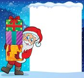 Frame with Santa Claus theme 9 Royalty Free Stock Image