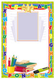 Frame for school Stock Photo