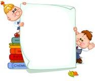 Frame with school children Stock Photos