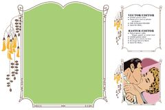 Frame for scrapbook, banner, online store, social network Stock Photo
