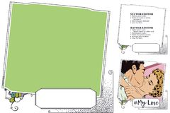 Frame for scrapbook, banner, online store, social network Stock Images