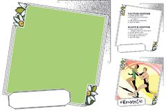 Frame for scrapbook, banner, online store, social network Stock Image