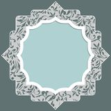 Frame for scrapbooking with floral elements and white border Royalty Free Stock Photo