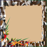 Frame of sea pebbles Royalty Free Stock Images