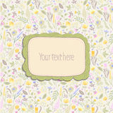 Frame on seamless floral pattern. Royalty Free Stock Photos