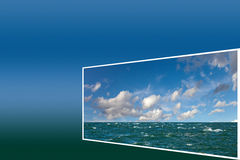 Frame with seascape Stock Images