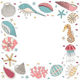 Frame of seashell Stock Photo