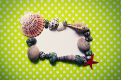 Frame with seashells Royalty Free Stock Photos