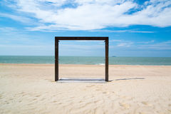 Frame on seaside Royalty Free Stock Image