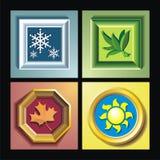 Frame seizoenen royalty-vrije illustratie