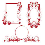 Frame set. An a  collection of ornamental frames Stock Image