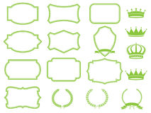 Frame set. With laurels,ribbons and crowns Stock Images