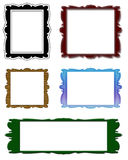 Frame set. Antique color frame Stock Photography