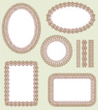 Frame set. Decorative  elements Stock Photography